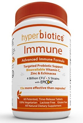 Hyperbiotics-Immune-Ultimate-Immune-System-Booster-Probiotics-Supplement-with-Bioavailable-Vitamin-C-Zinc-Echinacea-EpiCor-Saccharomyces-Cerevisiae-15x-More-Effective-than-Capsules-with-Patented-Time--0