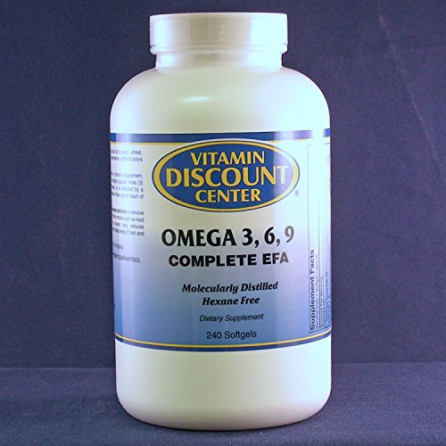 Omega 3 6 9 Complete Essential Fatty Acids By Vitamin Discount Center - 240 Softgels - Healthy ...