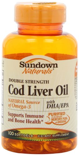 Sundown naturals double strength cod liver oil 100 for Sundown naturals fish oil review