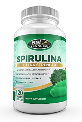Top-Rated-Spirulina-2000mg-Maximum-Strength-Supplement-30-Day-Supply-120-Veggie-Capsules-by-BRI-Nutrition-0